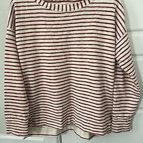 Madewell Cotton Long Sleeve Top Shirt Medium Euc Photo