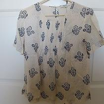 Madewell Cream Painted Blouse Photo
