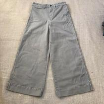 Madewell Crop Jeans High Rise Women's Size 27 Wide Leg Flare Cargo Beige Photo