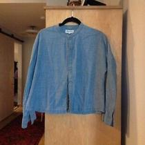 Madewell Denim Lng Sleeve Boxy Shirt Sz M Lagenlook  Photo