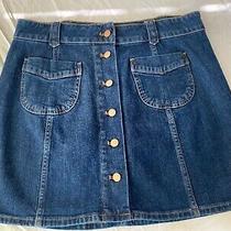 Madewell Denim Skirt Dark Blue Sz 12 Nwot Photo