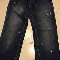Madewell Destroyed Painted Jeans Boy Cut Style Size 25 Cute  Photo