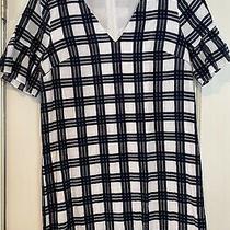 Madewell Dress Navy White Sheath Checked Womens Size 4 Photo
