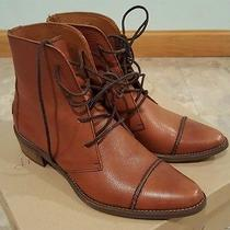 Madewell Fielder Laceup Leather Ankle Boots Booties Pecan Color Size 8 Photo