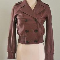 Madewell for J Crew Modern Leather Bomber - Size Small Photo
