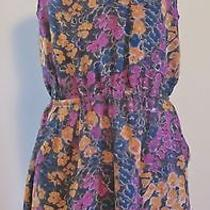 Madewell for J Crew Painted Garden Daydress 6 Plum Orchid Photo