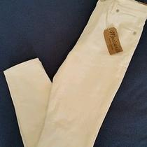 Madewell High Riser Skinny Skinny Jeans in Pure White Size 28 125 A0350 Denim  Photo