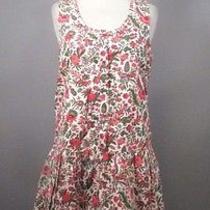 Madewell J Crew Womens Adorable Drop Waist Shift Dress in Lotus Leaf Sz S 118 Photo