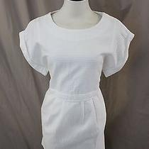 Madewell Jcrew Blanca Jacquard Dress Size S Pure White Nwt Photo