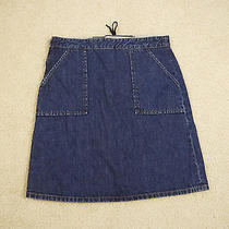 Madewell Jean Skirt Sample Back Tie Pocket Size 28 Cute  Photo