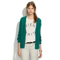 Madewell Journal Cardigan in Beetle Green Size Small S Merino Wool Photo