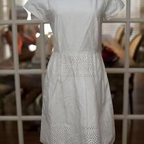Madewell Latticework Dress Pure White 8 158 Photo