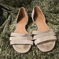 Madewell Light Mint Pale Green Greenish Beige Suede Slip Flats Sandals Shoes 8.5 Photo