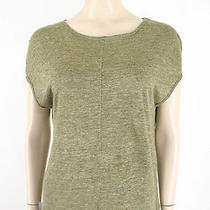 Madewell Linen Tee Top Olive Green Xs 7626 Tr Photo