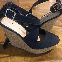 Madewell Loeffler Randall Navy Suede Wedges Heels Shoe Size 6 B Photo