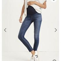 Madewell Maternity Denim Skinny Jeans Danny Wash Tencel Size 27/4 Photo