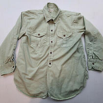 Madewell Mens Cargo Button Shirt Size S Green Long Sleeve Work Outdoor Camp  Photo