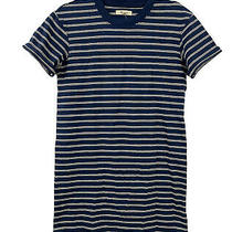 Madewell Navy Blue and White Epperson Striped Tee Dress in Womens Size Xs (Nwt) Photo