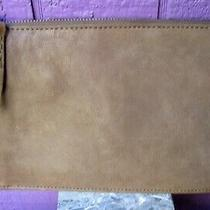 Madewell New Leather Pouch Clutch Colorblock Washed Leather in Tan Taupe Brown Photo