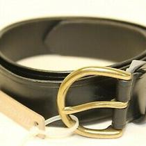 Madewell New Usa Made Womens Small 30 31 32 33 34 Black Italian Leather Belt Photo