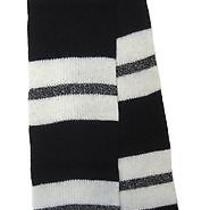 Madewell Nwt 52 Perfectly Shrunken Stripe Scarf Wool Night Vision Navy White Photo