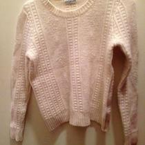 Madewell Off White Cable/tribal Knit Sweater. Sz S/m Photo