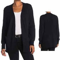 Madewell Open Front Patch Pocket Women's Cardigan Black Size Extra Small Photo
