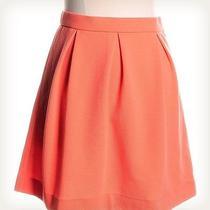 Madewell Orange Solid Mini Skirt Sz 2 Photo