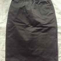 Madewell Satin Game Plan Skirt in Black Sz S Photo