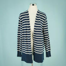 Madewell Size Small S Cardigan Sweater Walker Striped Long Sleeve Open Blue Nwt  Photo