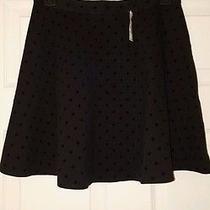 Madewell Skater Skirt Black on Black Polka Dots Photo