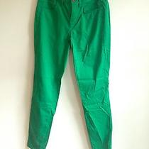 Madewell Skinny Ankle Jeans Lightweight Green Cotton Blend Size 2 Photo