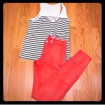 Madewell Skinny Jeans Red Photo