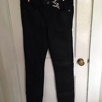 Madewell Skinny Skinny Coated Denim Black Size 27 Photo