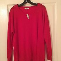 Madewell Solid Red Rowhouse Sweater L Photo
