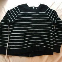 Madewell Striped Black Sweater With Back Zipper Size Xs (More Like s) Photo