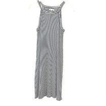 Madewell Striped White/navy Summer Sleeveless Knee High Midi Dress Size S Photo