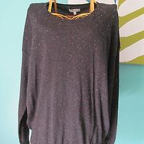 Madewell Studio Sweater in Colorfleck Sz L Large Gray Neon Pink Green New Nwt Photo