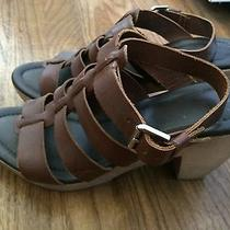 Madewell Sunset Sandals Clogs Brown Leather 9 Photo