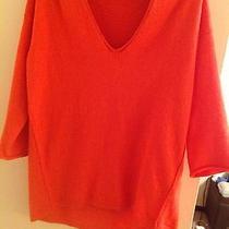 Madewell Sweater Sunset Orange Size Small Photo