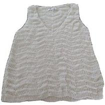 Madewell Sweater Vest Xs Ivory Pullover Cream v Neck Top X Small Photo
