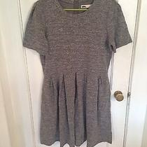 Madewell Sweatshirt Dress Grey Size Large Photo