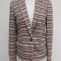 Madewell Tailored Crossweave Blazer Multicolor Size 2 158 Gently Worn Photo