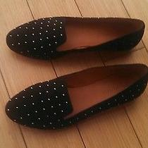 Madewell Teddy Loafer in Black Studded Suede (Size 6.5) Photo