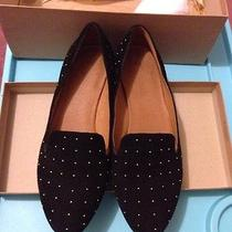 Madewell Teddy Loafer Studded Suede Sz 6.5 (7) Black Flat Shoes J.crew 138 Photo