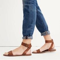 Madewell the Boardwalk Ankle-Strap Sandals Womens Choose Size Brown Leather Nib Photo