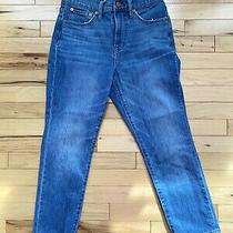 Madewell the Perfect Vintage Crop Jean High Rise Jeans Womens Size 26 Raw Hem Photo