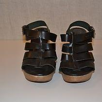 Madewell the Sunset Platform Sandal Black Leather Women's 8 High (3 In. and Up) Photo