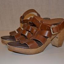 Madewell the Sunset Platform Sandal Brown Leather Women's 8 High (3 In. and Up) Photo