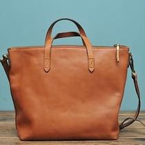 Madewell the Zip Transport Tote Burnished Caramel 188 Photo